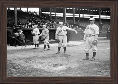 Boston Red Sox Players, Baseball #2 - Vintage Photograph (18x12 Giclee Art Print, Gallery Framed, Espresso Wood), Multi