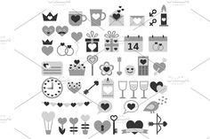 Romantic Set for Valentine's Day by Elena Pronenko on @creativemarket