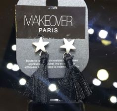 Star earpieces. Makeover Paris, produse, cosmetice, bijuterii. #jewelry #jewels #fashion #gems #accessories #beautiful #stylish Gems, Display, Paris, Jewels, Star, Christmas Ornaments, Stylish, Holiday Decor, Accessories