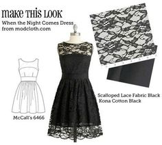 lace dress 'make your own' pattern