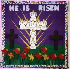 Classroom Displays and Bulletin Boards Homepage Religious Bulletin Boards, Bible Bulletin Boards, Easter Bulletin Boards, Elementary Bulletin Boards, Christian Bulletin Boards, Preschool Bulletin Boards, Bullentin Boards, Christian Preschool, Christian Easter