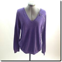 DKNY Jeans Purple Long Sleeve Top L