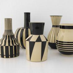 Collection de vases de Hedwig Bollhagen (1907-2001) Céramiste allemande influencée par le Bauhaus