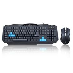 Q15 Ps/2 Keyboard & Usb Mouse Set Wired Gaming Keyboard and Mouse Set Quality Kit for PC Computer
