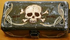 He does love anything with skulls on it pretty much...pinstriped toolbox