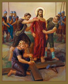 Amen Print featuring the painting Via Dolorosa - Disrobing Of Christ - 10 by…