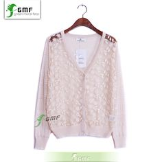 2014 new spring and summer candy color women's organza lace cardigan sweater-in Cardigans from Apparel & Accessories on Aliexpress.com | Alibaba Group