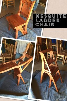 High Quality Mesquite Ladder Chair Made At Texas Hill Country Furniture