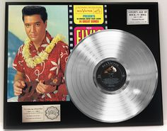 "Elvis Presley ""Blue Hawaii"" Platinum LP Record LTD Edition Award Style Collectible Display at Amazon's Entertainment Collectibles Store  -  http://amzn.to/2BP81zI  -"
