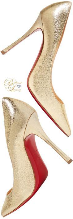 Brilliant Luxury ♦ Christian Louboutin Decoltish textured-leather pump