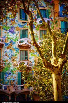 Casa Batllo by Gaudi . Barcelona MUY HERMOSA CASA, ES TODA UNA INSPIRACIÓN PARA UN CORAZÓN ENAMORADO.