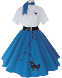 could draw/cut out poodle skirts for hall decor?