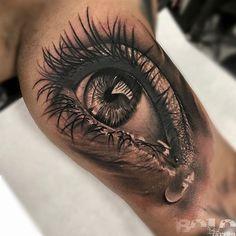 Teary Eye, Mens Inner Arm Realism Piece   Best tattoo ideas & designs