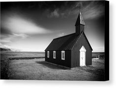 Church black and white Canvas Print for sale. Budir black church, Iceland. Fine Art Photography, stark contrast. Abandoned House Canvas Print for sale. Decayed building in Iceland (Snaefellsnes) black and white photo with stark contrast. The image gets printed on one of our premium canvases and then stretched on a wooden frame, click through and check out your options. 30 days money back guarantee. Matthias Hauser - Art for your Home Decor and Interior Design.