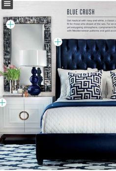 Navy Tufted Headboard High Fashion Home Design Indulgences My with regard to proportions 750 X 1108 Bedroom Ideas With Blue Velvet Headboard - Very few Navy Bedroom Decor, Navy Blue Bedrooms, Blue Rooms, White Bedroom, Dream Bedroom, Bedroom Ideas, Master Bedroom, Dream Rooms, Navy Home Decor