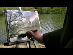 How to Begin a Landscape Painting in Oils - YouTube