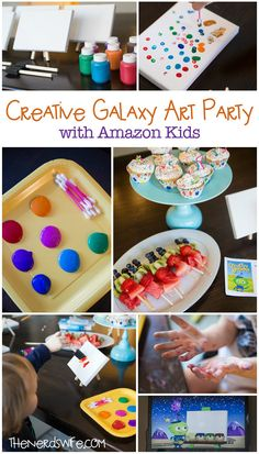 Creative Galaxy Amazon Kids Art Party -- activities, printables, and treats -- everything you need to throw a fun art party! #AmazonPrime #CleverGirls