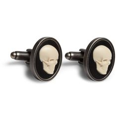 Paul Smith Skull Cameo Brass Cufflinks.
