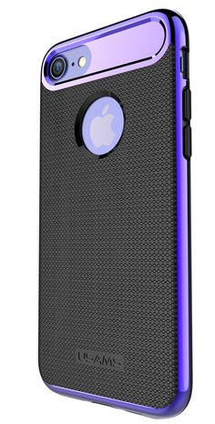 Case Apple iPhone 7, iPhone 7 Plus USAMS Electroplated Hybrid PC Frame + Silicone TPU Shockproof Drop Resistant