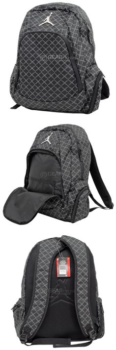 Bags and Backpacks 163537  Nike Air Jordan Jumpman 23 Laptop Backpack  Bookbag Mens Adult   Black And Gray -  BUY IT NOW ONLY   32.71 on eBay! 956469d017e6b