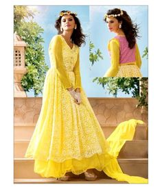 4e908bb112f eWaydeal Yellow Net Gown - Buy eWaydeal Yellow Net Gown Online at Best  Prices in India