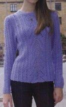 Lace Strip Sweater #Knitting, #Free pattern, #knit, #pattern