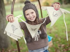 Bird Scarer Bunting by PinksandGreens on Etsy