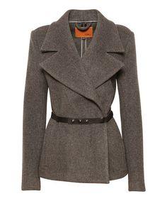 Charcoal Marled Mt. Mawson Wool Jacket - Women #zulily #zulilyfinds