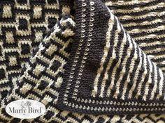 Chic Modern Mosaic Blocks Throw Crochet Pattern - Marly Bird™