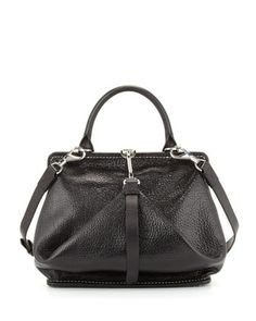 Opanca+Fold-Front+Satchel,+Black+by+Alexander+Wang+at+Neiman+Marcus.