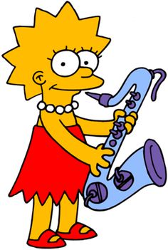 Lisa playing the sax