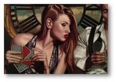 "Peregrine Heathcote (English, born 1973) ~  ""Winning Streak""  ~   oil on canvas"