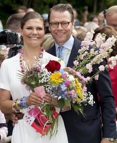 Pin for Later: Princess Victoria Rings In Her 39th Birthday Surrounded by Her Adorable Kids