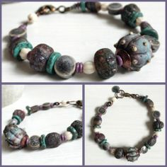 Nereid Sea Nymph Bracelet by The Blue Starfish with lampwork glass urchin bead by Josephine Wadman