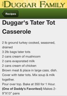 Duggar recipe