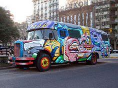 Painted Hippie Bus (terbeck) Tags: bus car graffiti buenosaires colorful painted hippie colourful van woodstock bunt bulli terbeck