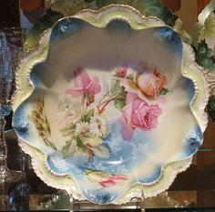 RS Prussia Bowl 1900s Antique Porcelain by PattysPorcelainEtc