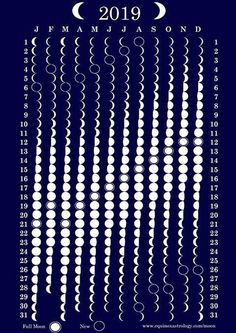 Mondphasenkalender 2019 - Witchcraft and Wicca - Science Bullet Journal Ideas, Bullet Journal Inspiration, Wiccan, Magick, Wicca Witchcraft, Kalender Design, Moon Phase Calendar, Moon Magic, Lunar Magic
