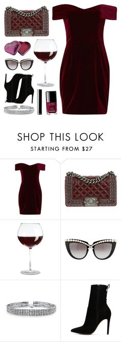 """Red Wine & Lip Smacker"" by batmancrazy ❤ liked on Polyvore featuring Nicholas, Chanel, Anna-Karin Karlsson, Bling Jewelry and ALDO"
