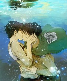 MAKE US FREE NA SPLASH KAZANETA ~clap clap~ it's not Free related, but that's what it reminded me of cx Eren and Levi...