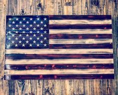 Hand Carved Charred The Rustic Flag Company