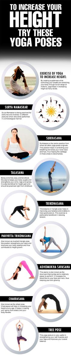 #Yoga Being tall is every ones dream. Here some tips from the ancient art of yoga to increase height! #YOGA #YOGAPOSES