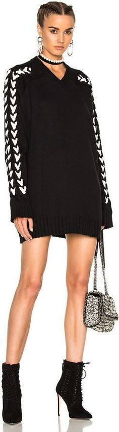 Y Project Long Oversized Knitted V Neck Sweater #bohemian styles