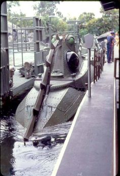 Walt Disney World, 20,000 leagues under the sea ride.  We went just after the park opened in late 1971.