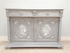 Gods? - Antique French Painted Buffet Base