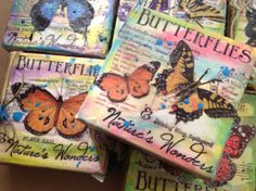 Mixed Media Butterfly Canvas by TweetyJill on Etsy, $16.99