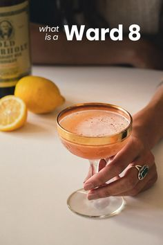 A classic whiskey cocktail with a fruit refreshing flavor. It's easy to make and a real crowd pleaser among cocktail drinkers. Drinks With Grenadine, Orange Juice Cocktails, Whiskey Cocktails, Refreshing Cocktails, Classic Cocktails, Ward 8 Cocktail Recipe, Cocktail Recipes, Tangerine Juice, Citrus Juice