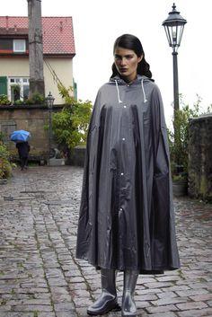 Black pvc cape