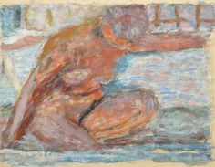 "Pierre Bonnard (1867-1947); ""Nu accroupi"", 1938. Estimation: 150 000 à 200 000 euros."
