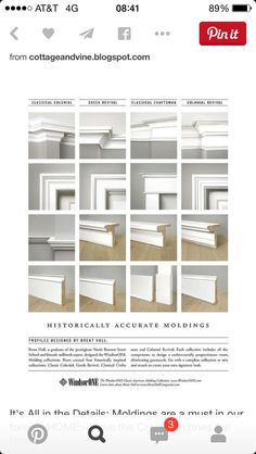 Historically accurate moldings and trims styles for home
